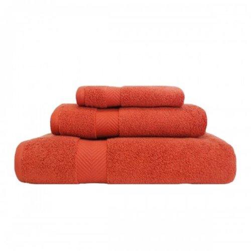 Superior ZT 3 PC SET BR Zero Twist Cotton Towel Set - Brick, 3 Pieces