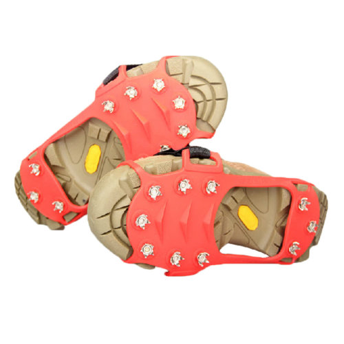 Ultra-light 10 Spikes Pro Traction Cleats Anti-Slip Shoe Grips(Red)