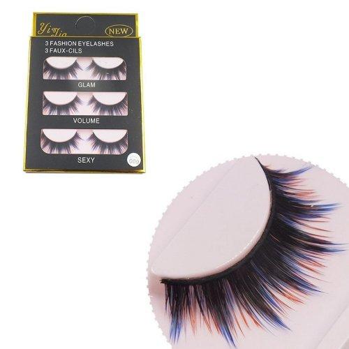 503f8fa9008 3 Pairs Colorful False Eyelashes on OnBuy