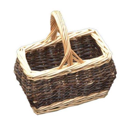 Childs Rectangular Rustic Shopping Basket