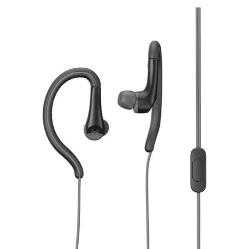Motorola MO-SH008BK 3.5 mm Hands Free Earbuds Sport Water Resistant IPX4 with Remote & Mic - Black