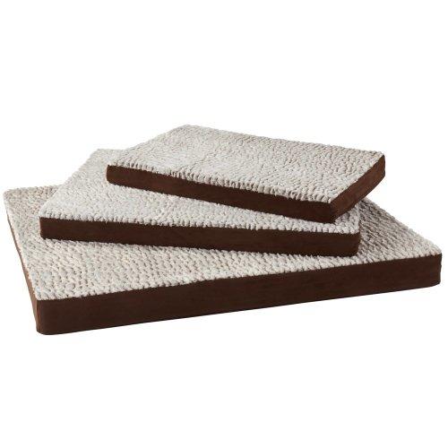(Small, Brown) Bunty Ultra Soft Fur Washable Dog Pet Mattress Basket Bed Cushion Fleece Pillow