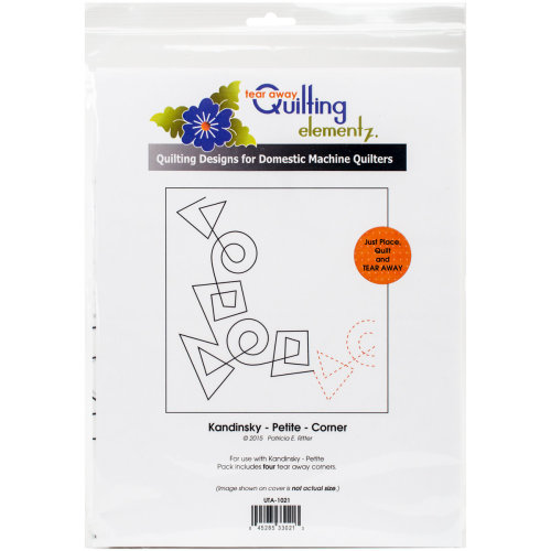Quilting Creations Printed Tear Away Quilting Paper 4/Pkg-Kandinsky - Petite-Corner