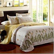 4Pcs Dandelion Duvet Quilt Cover Bedding Set Bedroom Pillow Case Decor Single Twin King