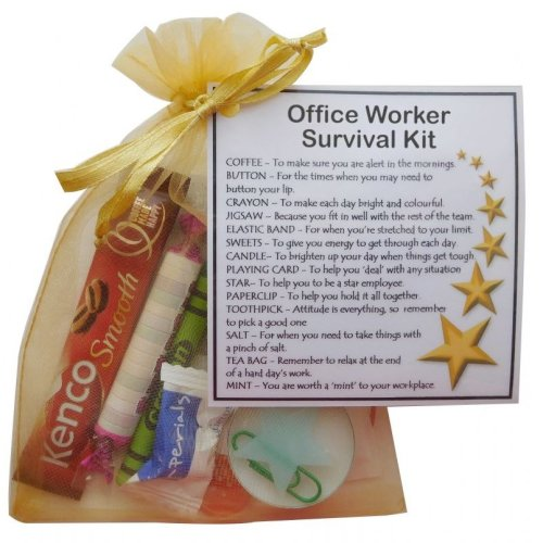 Office Worker Survival Kit | New Office Job Gift for Friend or Colleague