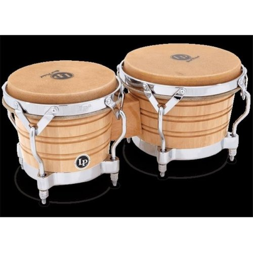 Latin Percussion LP201A-2 Generation II Bongo & Traditional, Natural & Chrome