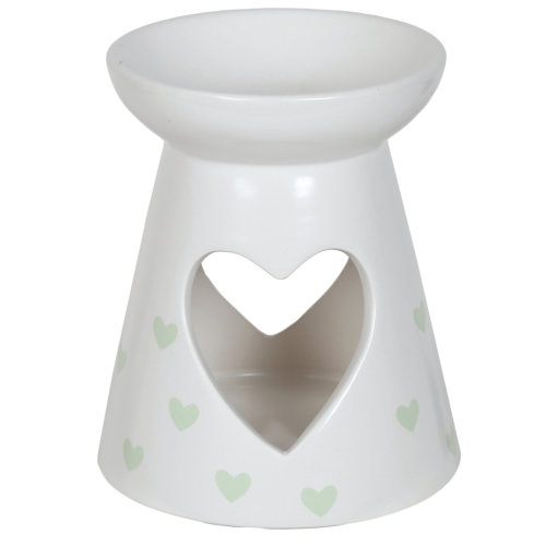 Aroma Cut Out Heart Melt Burner, Green