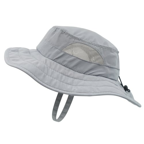 24c90ba8f4409 Decentron Kids UPF 50+ Safari Sun Hat UV Sun Protection Hats Daily Play Hat  with Velcro Straps Grey on OnBuy