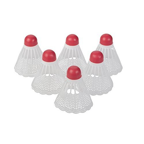 Triumph Regulation Weighted Replacement White Badminton Accessory Shuttlecocks 6 Pack White