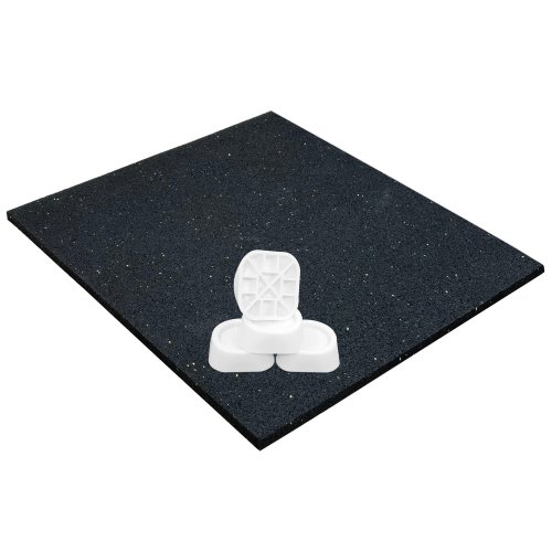 Anti-vibration Washing Machine Mat, Universal 62x60x0.6 cm and Anti Vibration Damper Set of 4, Anti-Slip Pad Dryer, Oscillation Damper Feet,...