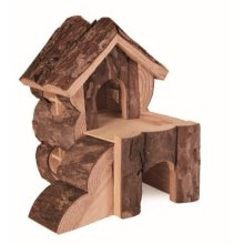 Trixie Bjork Log Cabin For Hamsters - House Natural Hamster Mice Animal -  bjork house trixie natural hamster hamsters mice log cabin animal