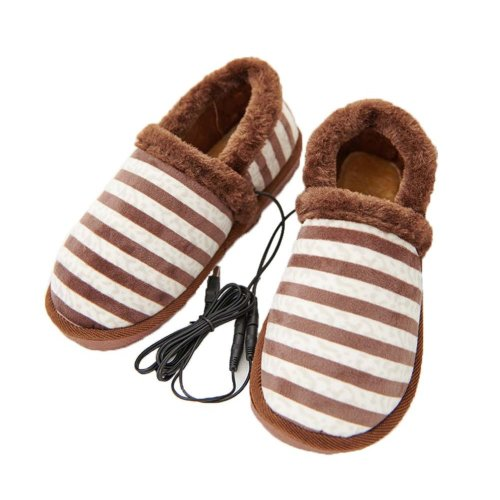 [Cofe Stripe] Heating Shoes Warm USB Electric Heated Slipper usb Foot Warmer for Winter 27cm