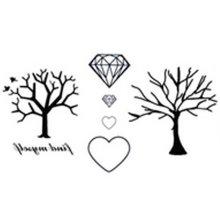 10 Pcs Personalized Waterproof Diamand Tree Temporary Tattoo Stickers
