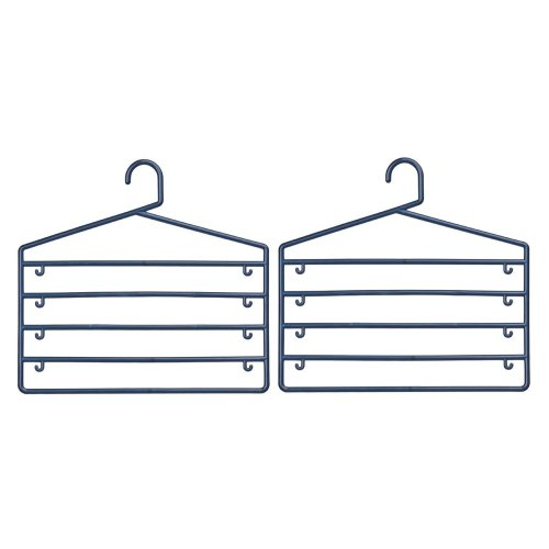 Plastic Trouser Organiser - Indigo, Set of 2