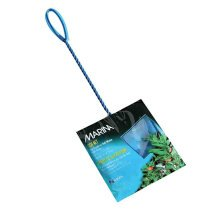 Marina 5-Inch Blue Fine Nylon Fish Net with 10-Inch Handle