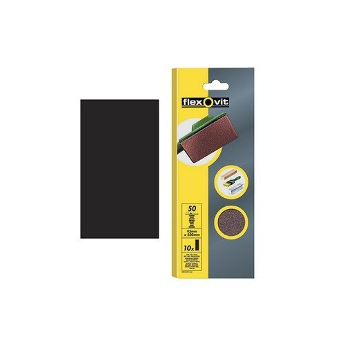 Flexovit 63642526327 1/2 Sanding Sheets Orbital 115 x 280mm Plain Medium 80g Pack of 10