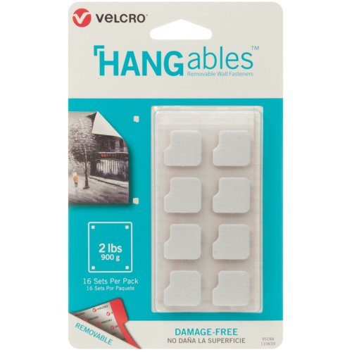 """Velcro(R) Brand HANGables Removable Wall Fasteners .75""""-16/Pkg, Holds Up To 2lbs"""