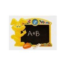 Megcos 1050 Plastic Rabbit 3 Pece Toy - Blackboard