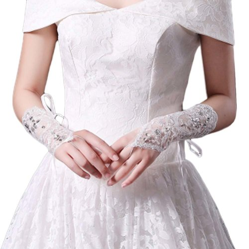 Bridal Wedding Gloves Party Dress Lace Short Gloves B14