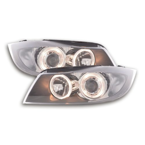 Angel Eye headlight  BMW serie 3 saloon type E90 Year 05-08 black