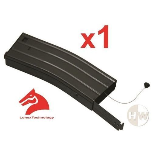 Tomtac Airsoft M4 M16 Scar Metal Black Lonex Flash Magazine Mag 360Rds Asg Pull Cord €¦