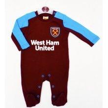 West Ham United Baby Sleepsuit - 2017/18 Season (0-3 Months) - 2018 Babies Pram -  west ham united 2018 babies pram sleep suit baby grow play