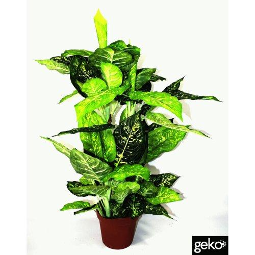 Artificial X-Large 100cm Dieffenachia Plant Tree Realistic Foliage XL