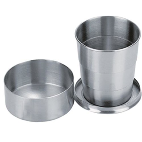 Visol VAC372 Scope Stainless Steel Folding Shot Cup - 5 oz