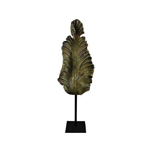 Libra Rialto Antique Green Leaf Sculpture Ornament Statue Decoration