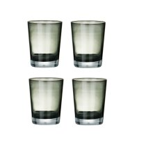 Mixer Glasses, Smoke Grey, Set Of 4