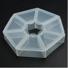 Round Plastic Clear Beads Display Organiser Storage Container