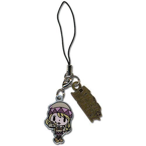 Cell Phone Charm - Tiger & Bunny - New Karina & Logo Metal Anime ge17055