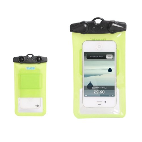 """5.9""""*3.5""""GREEN Waterproof Underwater Swimming Diving Dry Bag Pouch"""
