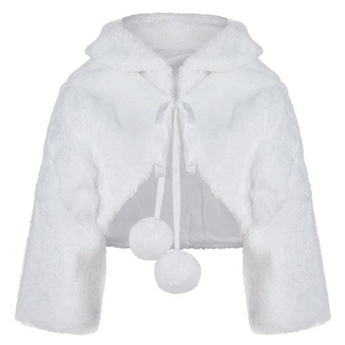 "Girls Faux Fur Jacket 3/4 Sleeve ""208"""