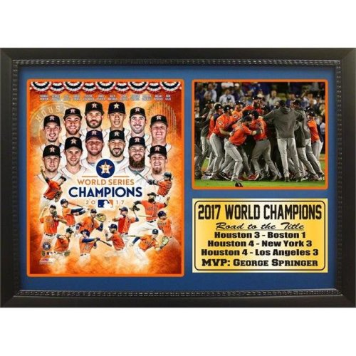 Encore Select 299-73 12 x 18 in. 2017 World Series Champions, Houston Astros - Photo Stat Frame