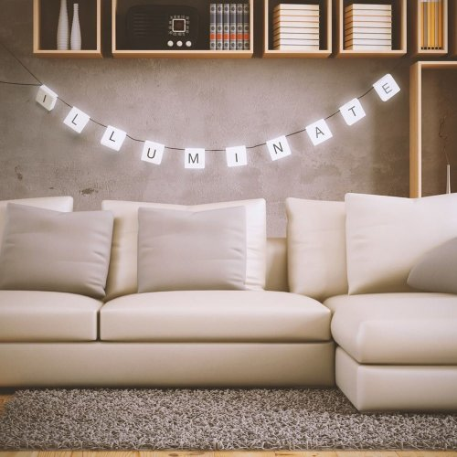 Cinematic Personalised Scrabble Hanging Letters 210cm String Lights Rope LED