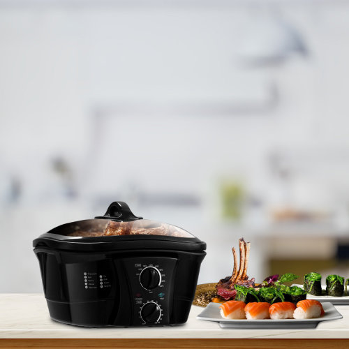 Electric 8 In 1 Multi Function Cooker Dual Knobs 5 Litre Non-stick Pan