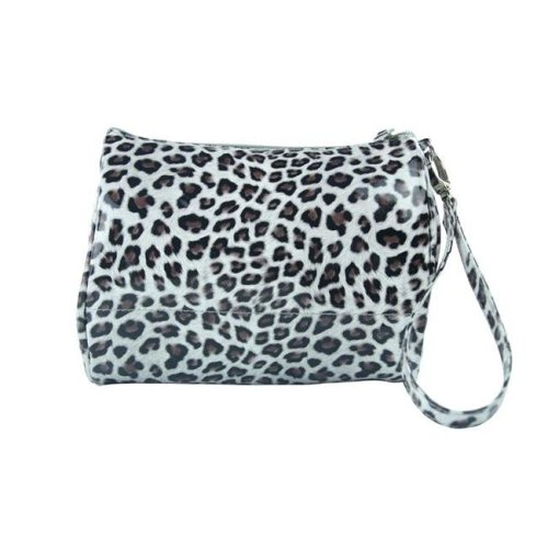 Picnic Gift 7724-CT Shirley Temple-Touch Up Insulated Cosmetics Bags with Removable Wristlet, Cheetah - Large