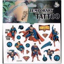 Superman Tattoo Sheet