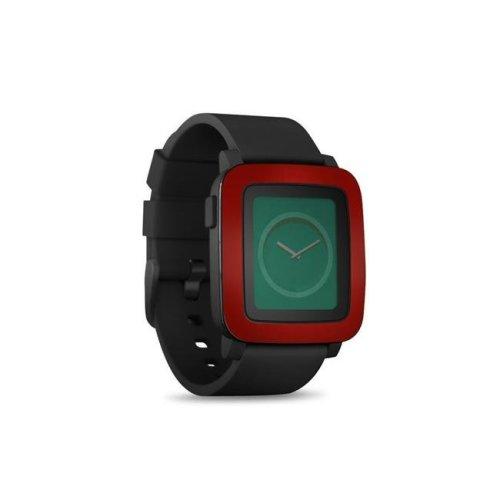 DecalGirl PSWT-REDBURST Pebble Time Smart Watch Skin - Red Burst