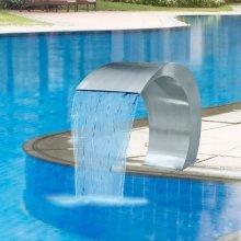 Garden Waterfall Pool Fountain Stainless Steel 45 x 30 x 60 cm