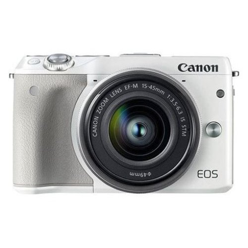CANON EOS M3 White KIT EF-M 15-45mm F3.5-6.3 IS STM Silver