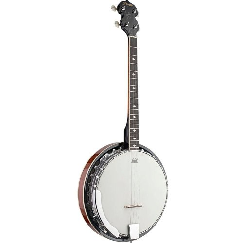 Stagg BJM304DL Highgloss 4-String Bluegrass Banjo Deluxe with Metal Pot
