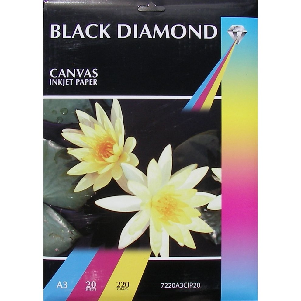 a3 220gsm black diamond canvas inkjet paper on onbuy