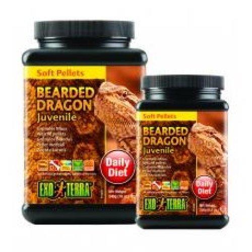 Exo Terra Soft Pellets Juvenile Bearded Dragon Food 250g