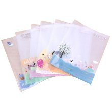 10 PCS Clear Plastic Lovely Prints Book Cover(26.5*19CM) For Office Or School