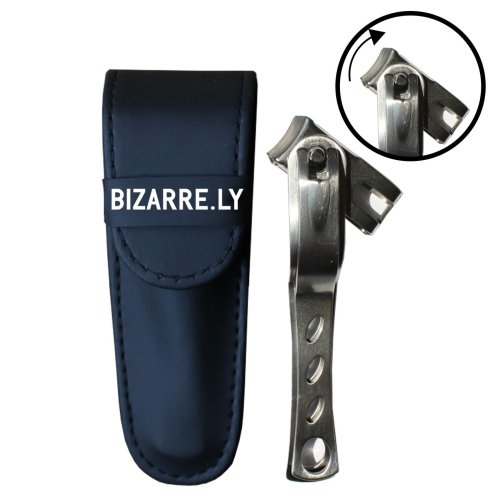 HIGHEST QUALITY Long Handle Toenail and Fingernail Clipper By Bizarre.ly with 360 Degree Rotating Swivel Head for BEST Positioning. Pedicure Tool...