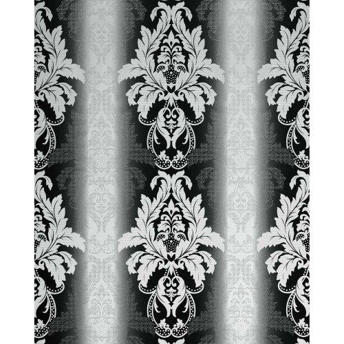 EDEM 770-30 luxury embossed damask barock vinyl wallpaper black white   5.33 sqm