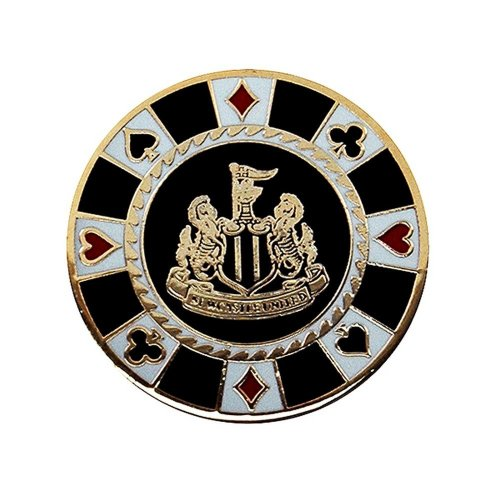 Newcastle United FC Official Football Crest Casino Chip Golf Ball Marker