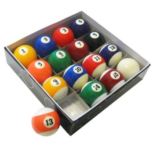 Carmelli NG2545 Pool Table Regulation Billiard Ball Set, Multicolor
